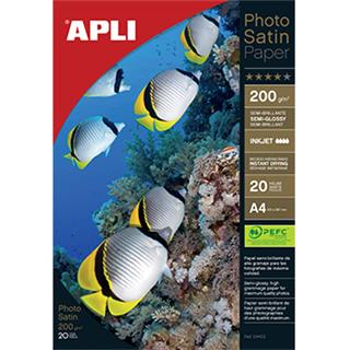Apli Foto papir A4 Photo satin 200g